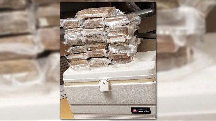 A man was arrested and charged this week after Galveston Police discovered 19 kilos of cocaine in the trunk of a car.