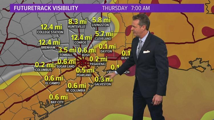 Houston weather update: Slight cool down bringing fog