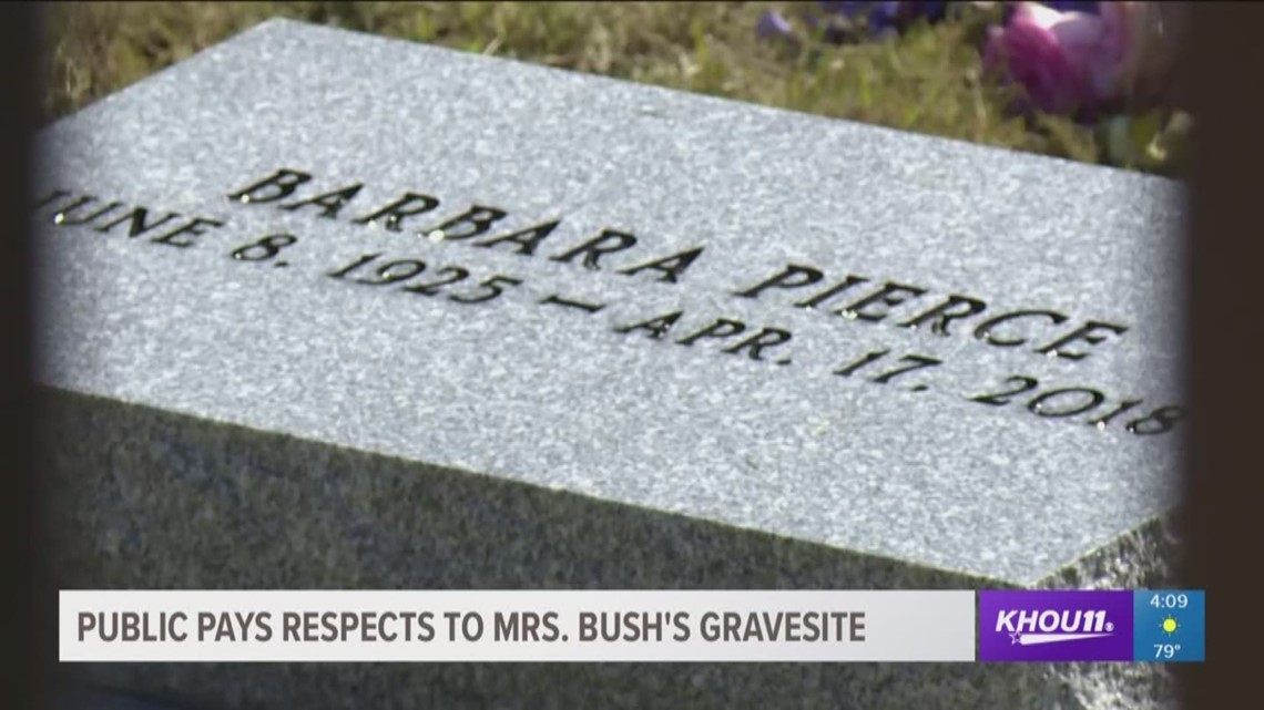 Public Pays Respects To Mrs Bush At Her Gravesite Khou Com