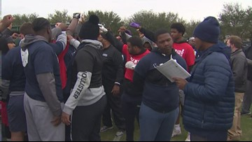 Texans host 11th annual combine for local high school football players