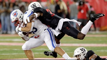 Buechele, Jones lead No. 16 SMU past Coogs, 34-31