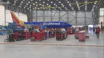 Southwest Airlines opens its largest hangar in Houston
