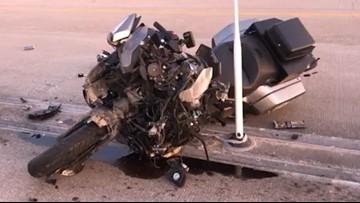 Raw: Liberty County deputy involved in motorcycle crash on I-10 Katy Freeway