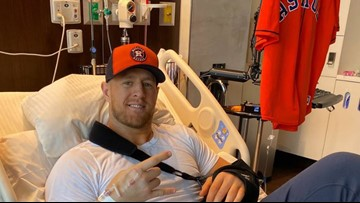 'Blame it on the pain meds' |  J.J. Watt is tweeting about the Astros from his hospital bed