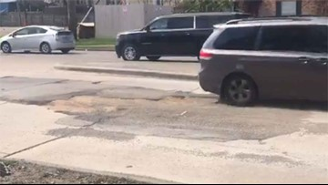 How quickly are potholes being fixed in the city of Houston?