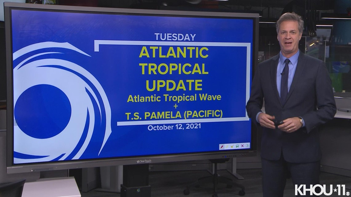 Tropical update: Atlantic tropical wave and Tropical Storm Pamela (Pacific)
