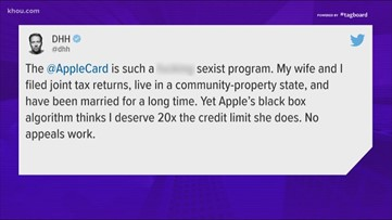 Apple's credit card being investigated for sex discrimination
