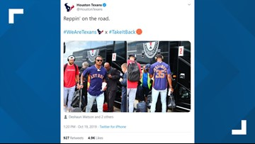Texans sport Astros gear as they head to Indianapolis