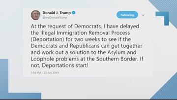 President Trump 'delays' ICE roundup of immigrant families
