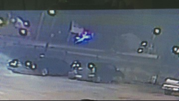 SURVEILLANCE VIDEO: Offciers injured in fiery head-on crash with DWI suspect