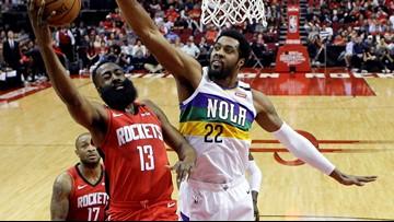James Harden scores 40 as Rockets beat Pelicans 117-109