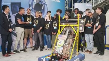 Refugee robotics team receives sponsorship, 5K donation from Boeing