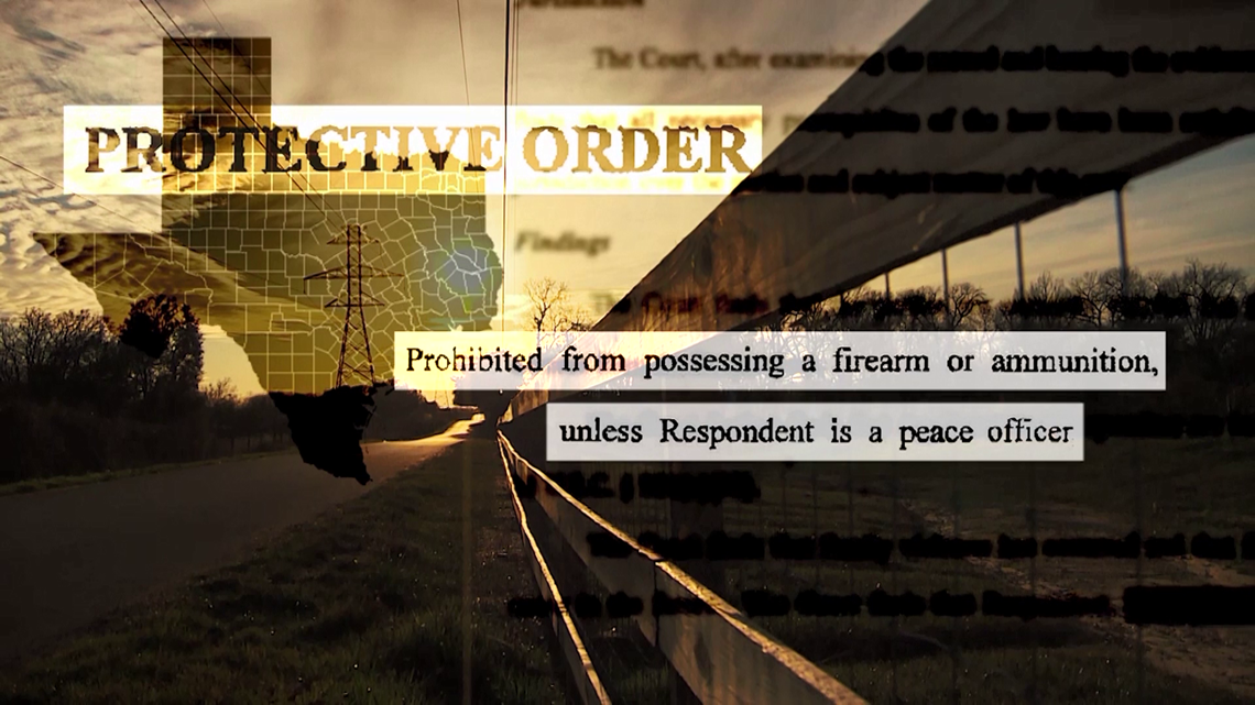 Texas law prohibits domestic abusers with protective orders from having guns. What happens after? Not much.