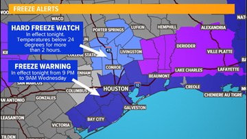 Freeze warning tonight: 'Feels like' temperatures in the 30s all day