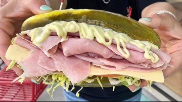 Restaurant uses huge dill pickles instead of bread for its sandwiches