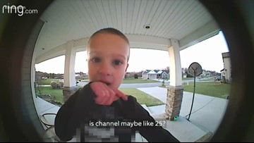 Kid calls dad on Ring doorbell cam to change TV channel