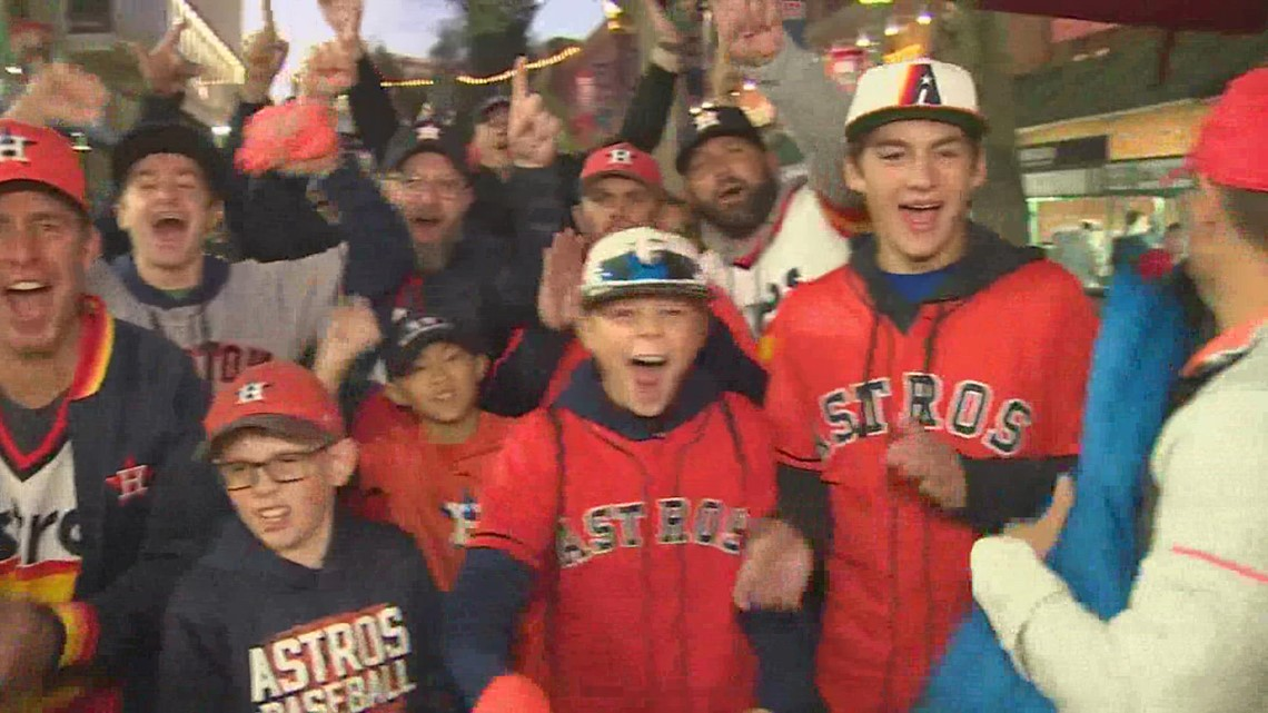 Houstonians make trip to Boston to cheer on Astros in ALCS