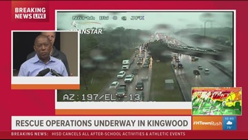 'Wherever you are right now, stay put'   Mayor Turner urges safety as rain, flooding hit Houston area
