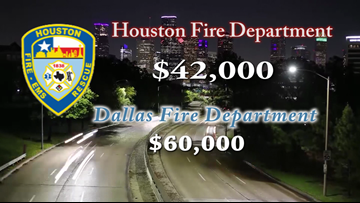 By the numbers: Houston firefighters' pay compared to other