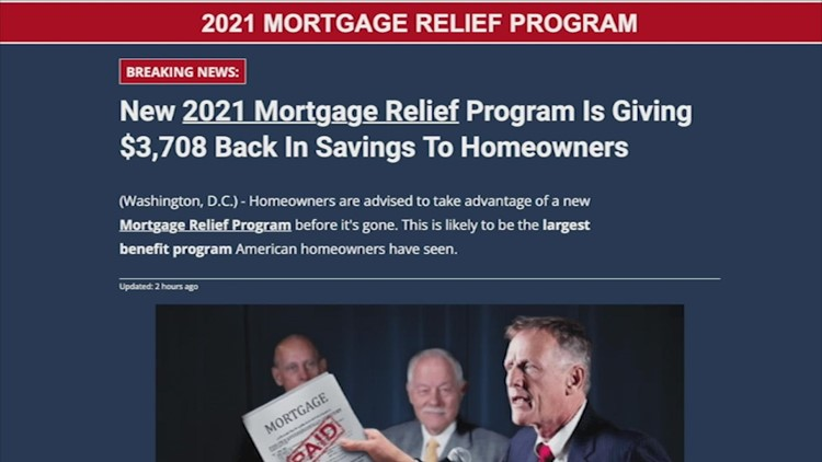 Fake ad claims U.S. giving homeowners about $3,700 in stimulus relief