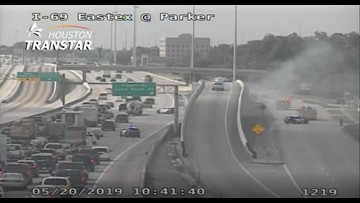 Driver dies in car fire on Eastex Freeway