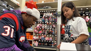 'I did not think this day would ever come'  | Kids get shopping spree from Houston Texans