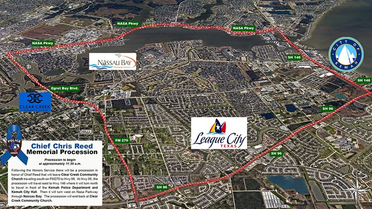 Kemah police chief memorial procession route
