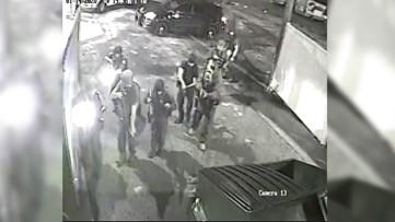 Raw: Bellaire High School shooting suspect's arrest captured on surveillance video behind store