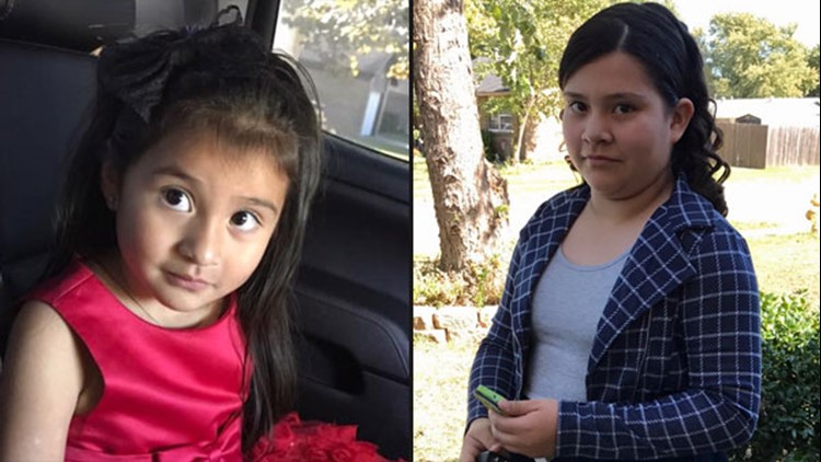 Ava and Betzida Castillo and their mom were shot during a robbery in northwest Harris County. Ava, left, didn't survive.