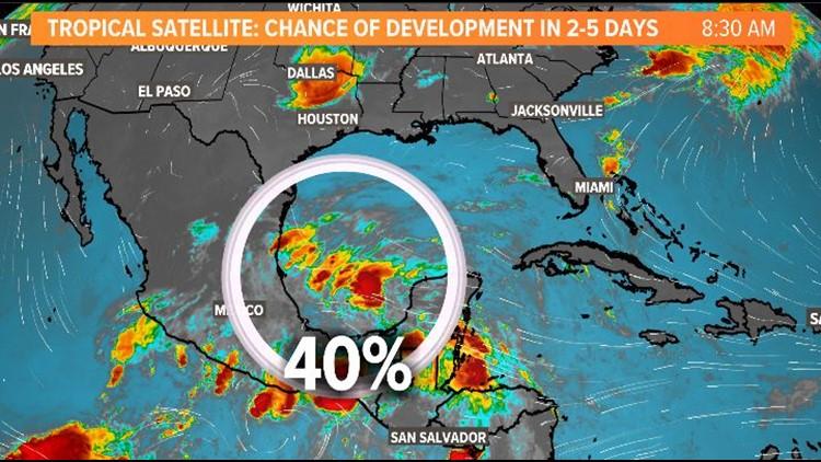 Tropical update: Disturbance has 40% chance of development