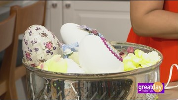 Embellished eggs for your Easter centerpiece