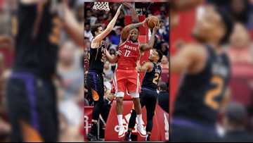 Rockets set NBA record with 27 3s in 149-113 rout of Suns