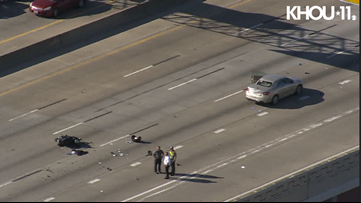 Deadly motorcycle crash shuts down northbound traffic on West Loop