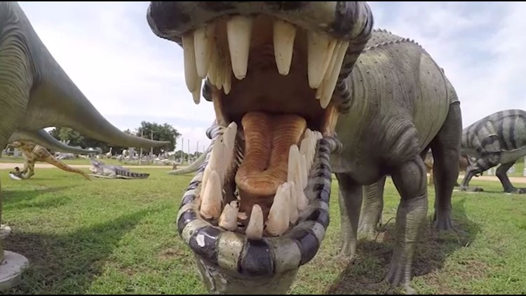 Frazier's in Hempstead has been of the largest displays of concrete dinosaurs in Houston. (KHOU)