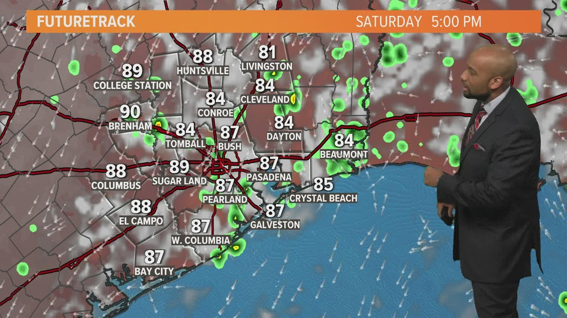 Houston forecast: Scattered storms likely this weekend