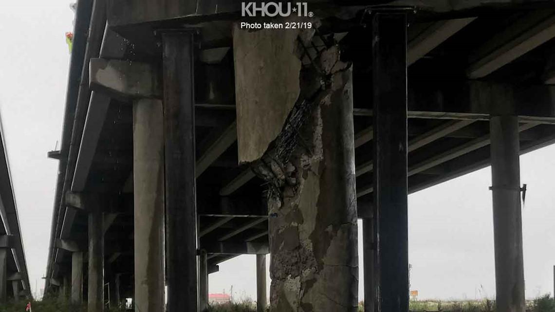 Verify: Is this photo real of damaged pillar under I-10/San Jacinto River bridge?