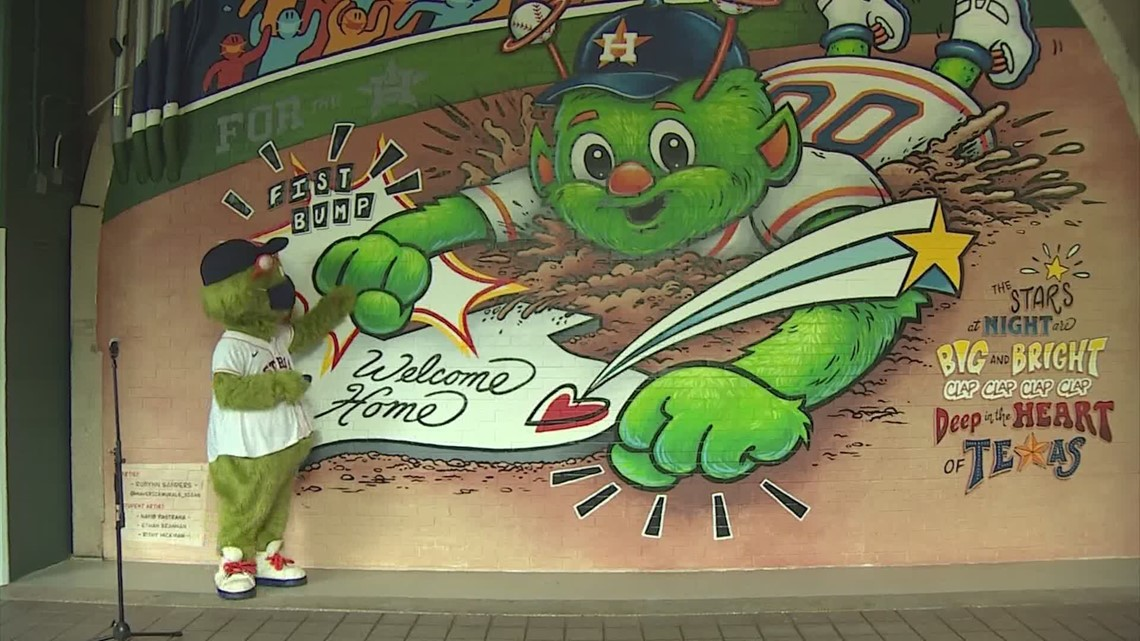 You can now fist bump Orbit with this huge new Astros mural at Minute Maid Park