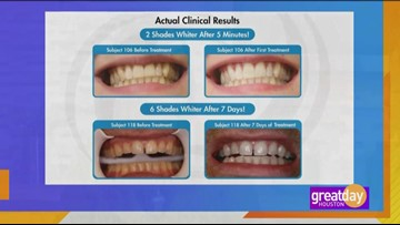 Power Swabs gives you a brighter smile in just minutes