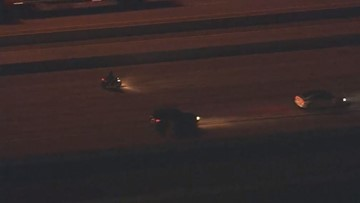 Police chase motorcyclist who was going wrong way in northeast Houston