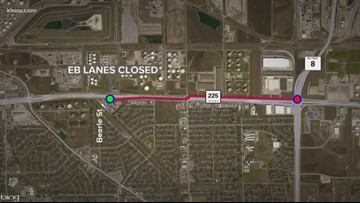 Highway 225 partially closed for the weekend