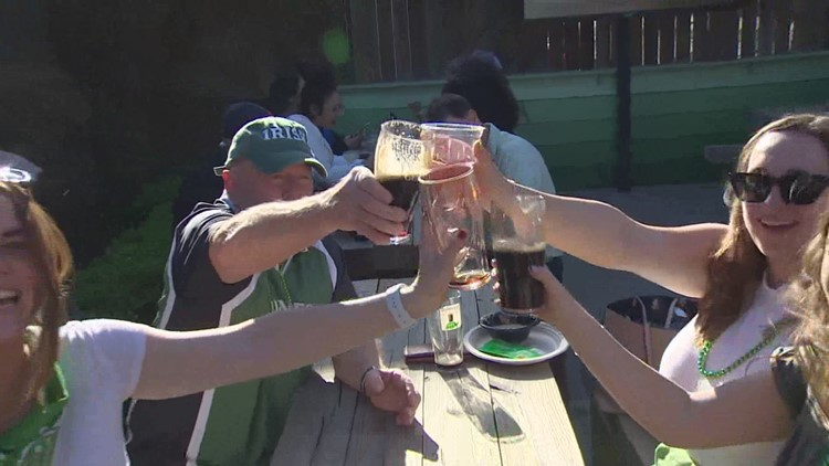 Houston patios packed for St. Patrick's Day