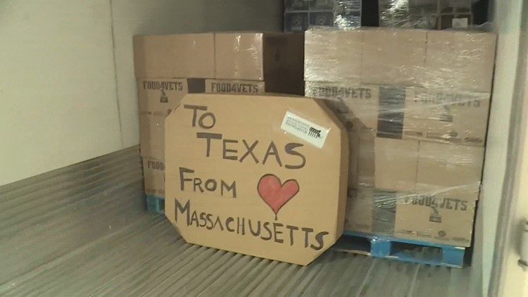 From Massachusetts with love: Truckloads of food head to Texas, courtesy of US veterans, New England Patriots