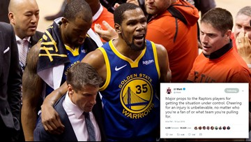 J.J. Watt takes exception to Toronto fans cheering Durant injury