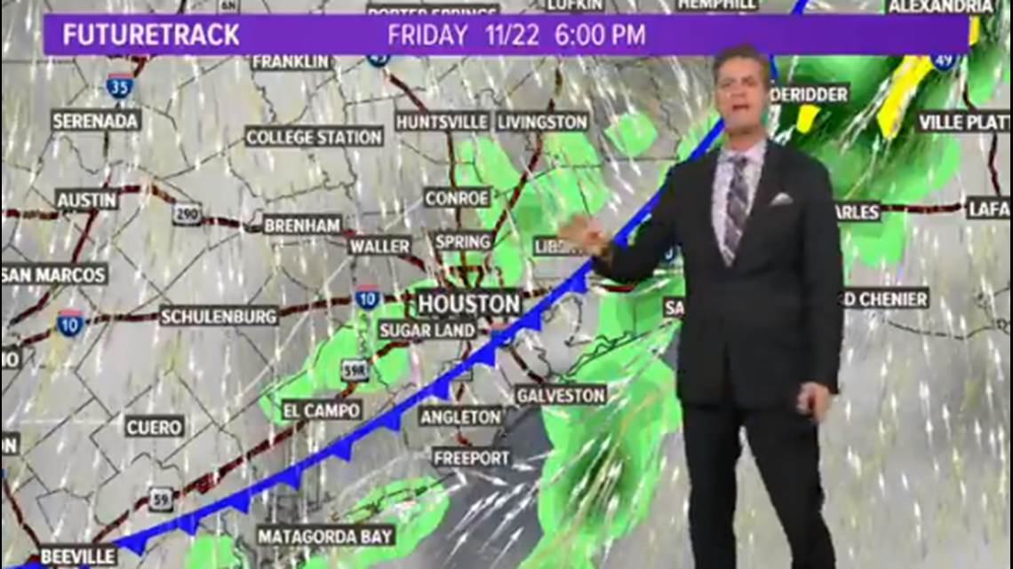 Houston forecast: On and off rain ahead of the cold front that arrives today