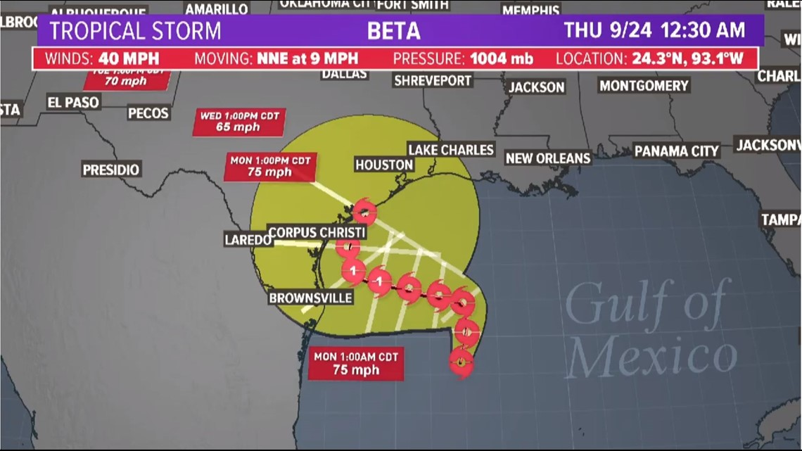We now have Tropical Storm Beta in the Gulf of Mexico   khou.com