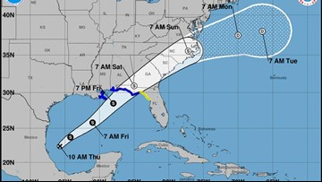 Tropical storm warnings issued for northeastern Gulf Coast due to Potential Tropical Cyclone 16