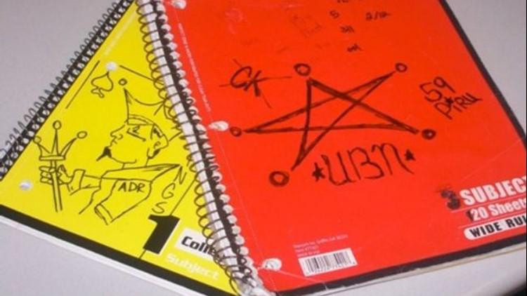 Gang symbol notebooks