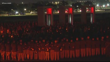 Texas A&M holds vigil for 20th anniversary of deadly bonfire collapse