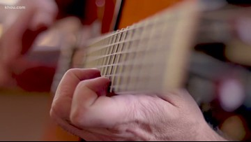 Houston guitar maker takes about 300 hours of precise work for each instrument