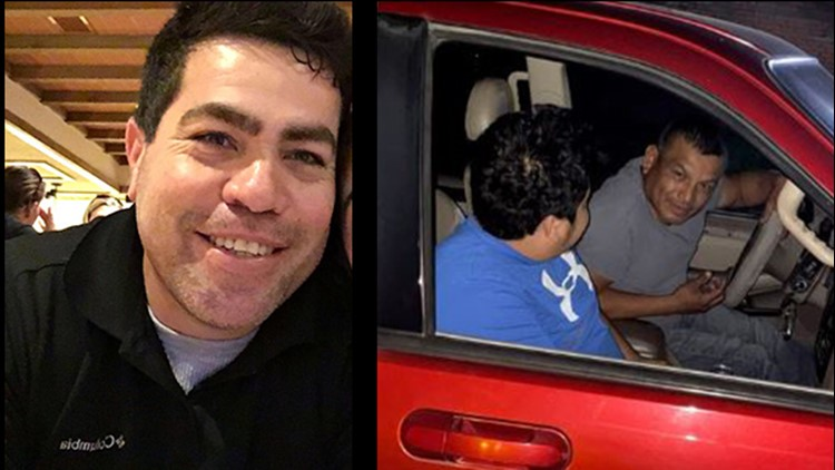 Augustin Martinez, left, snapped a photo of two suspects, right, before they shot and killed him, police say.